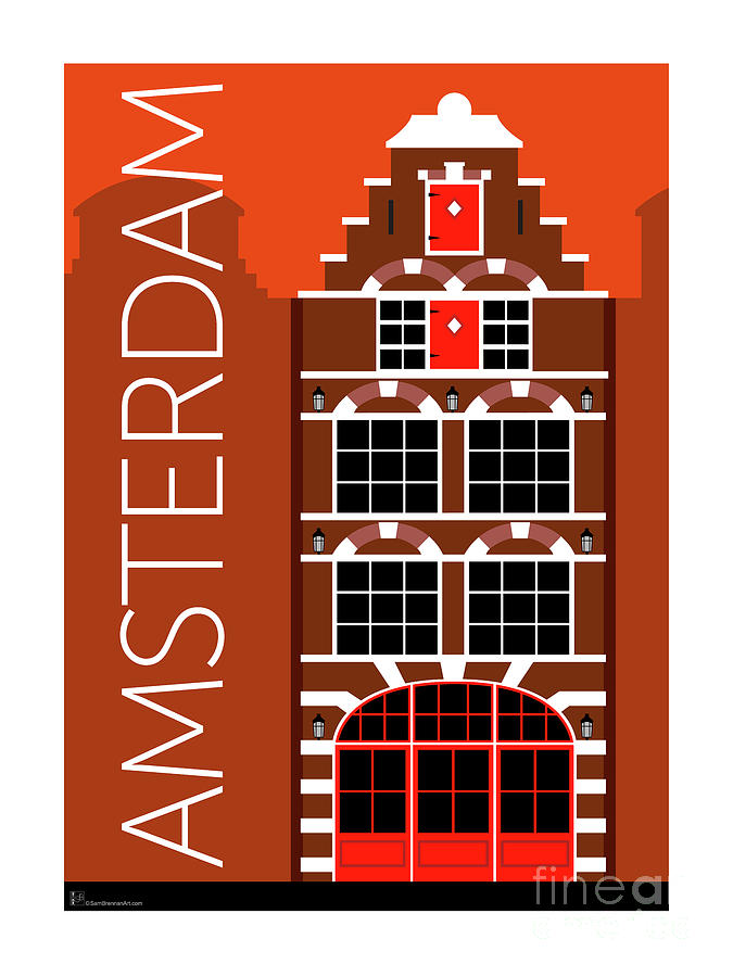 Amsterdam House Orange by Sam Brennan