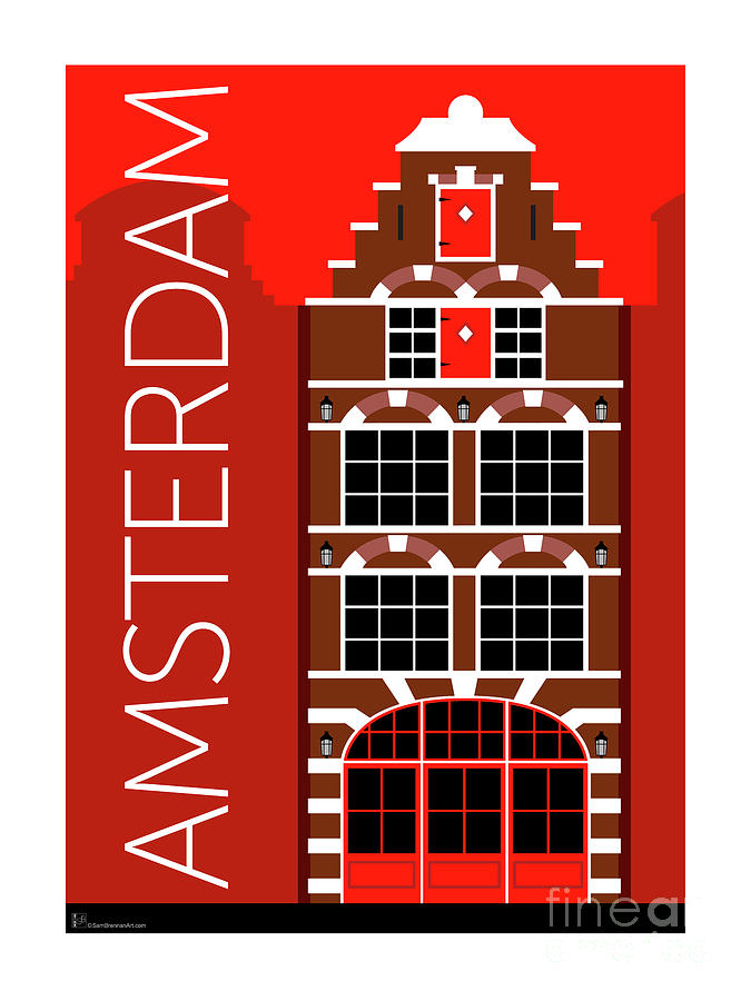 Amsterdam House Red by Sam Brennan