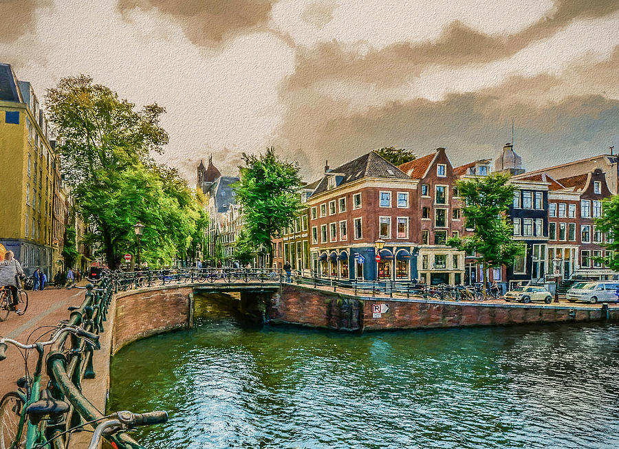Amsterdam - Painting by Ericamaxine Price