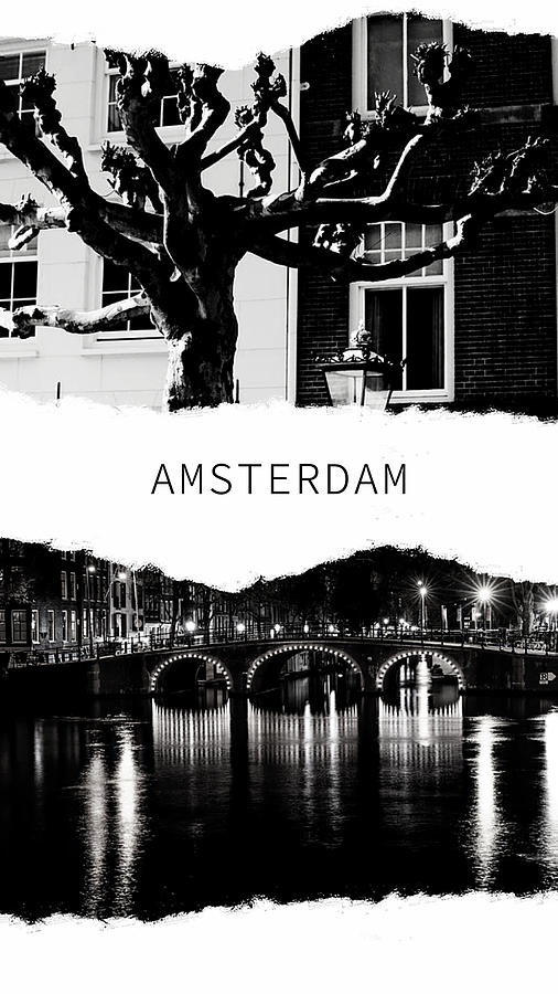 Amsterdam Poster by Jenny Rainbow
