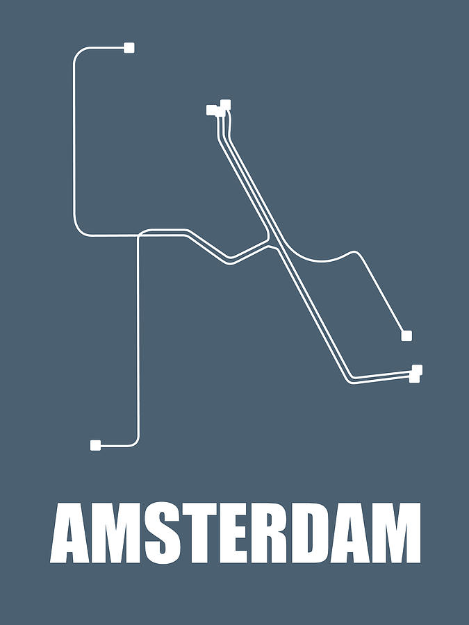 Subway Map Of Amsterdam.Amsterdam Subway Map By Naxart Studio