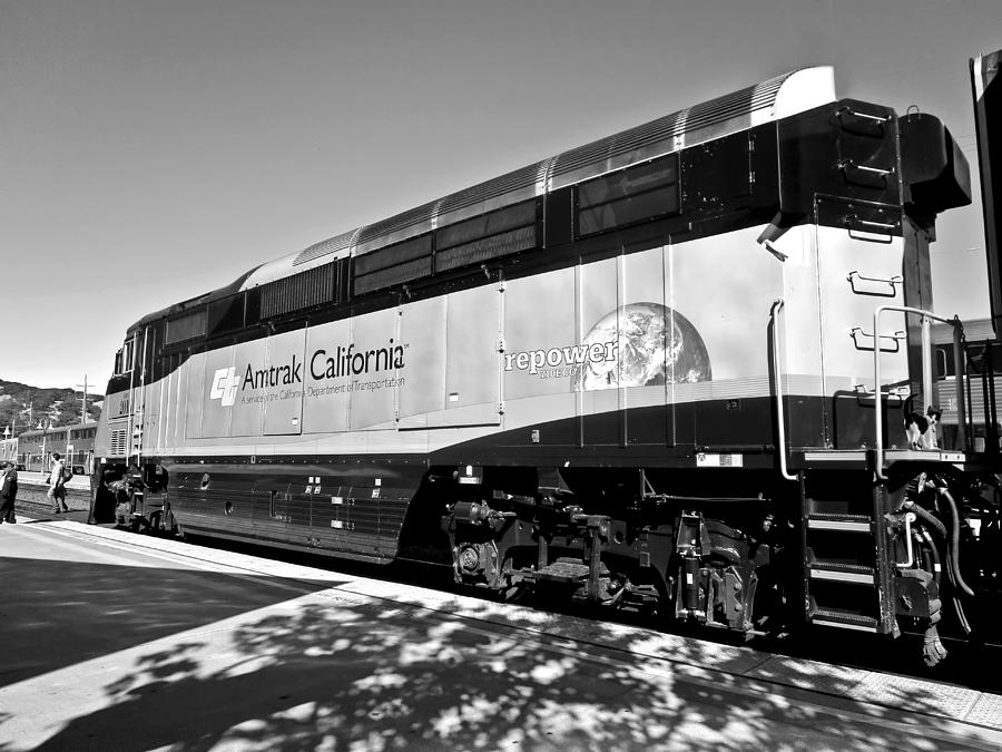 Amtrak California Black and White by Joyce Dickens