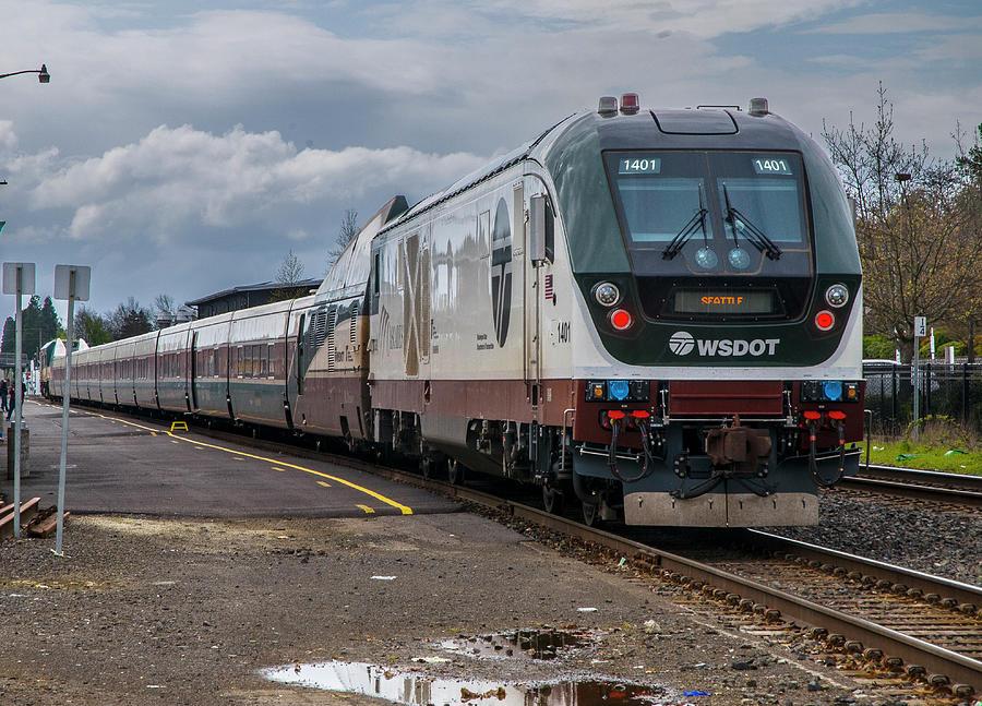 Amtrak Cascades Waiting in Eugene by Matthew Irvin