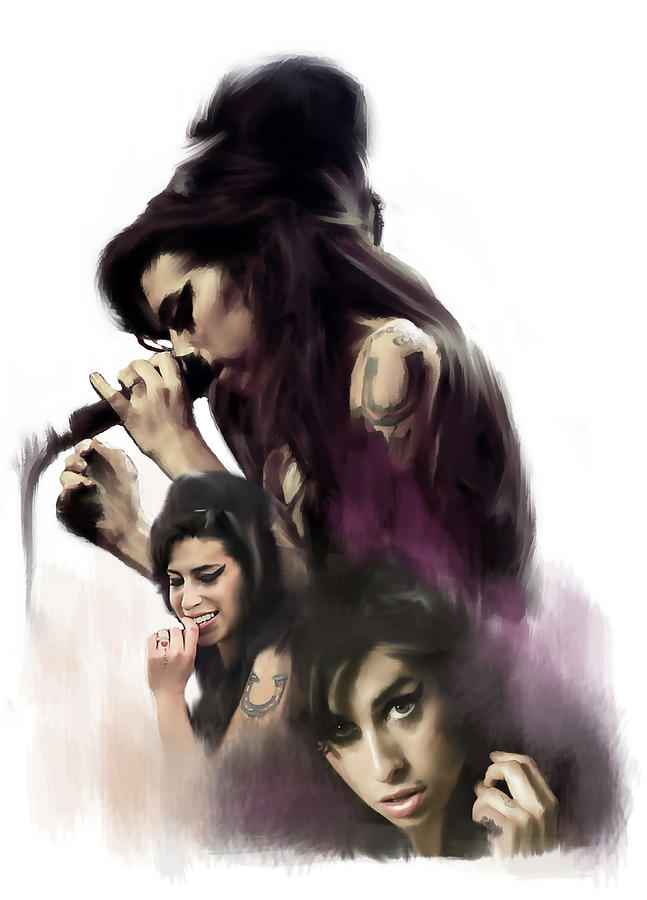 Amy Winehouse Soul Torch  by Iconic Images Art Gallery David Pucciarelli