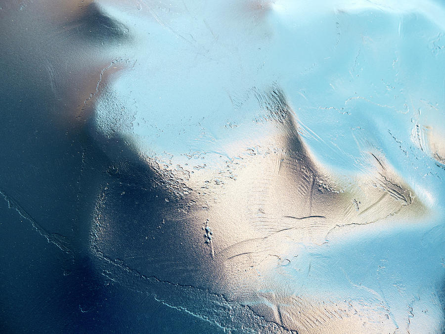 An Abstract View Of A Textured Shiny Photograph by Ralf Hiemisch