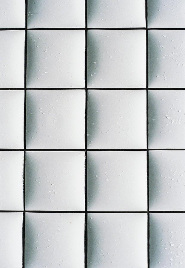 An Abstract White Tile Photograph by Yuko Sakuma