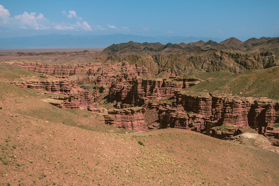 An aerial overview Charyn canyon in kazachstan and the valley of by Kim Vermaat