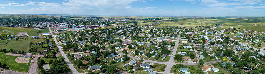 An Aerial Panorama of Chadron, Nebraska by Mark Dahmke