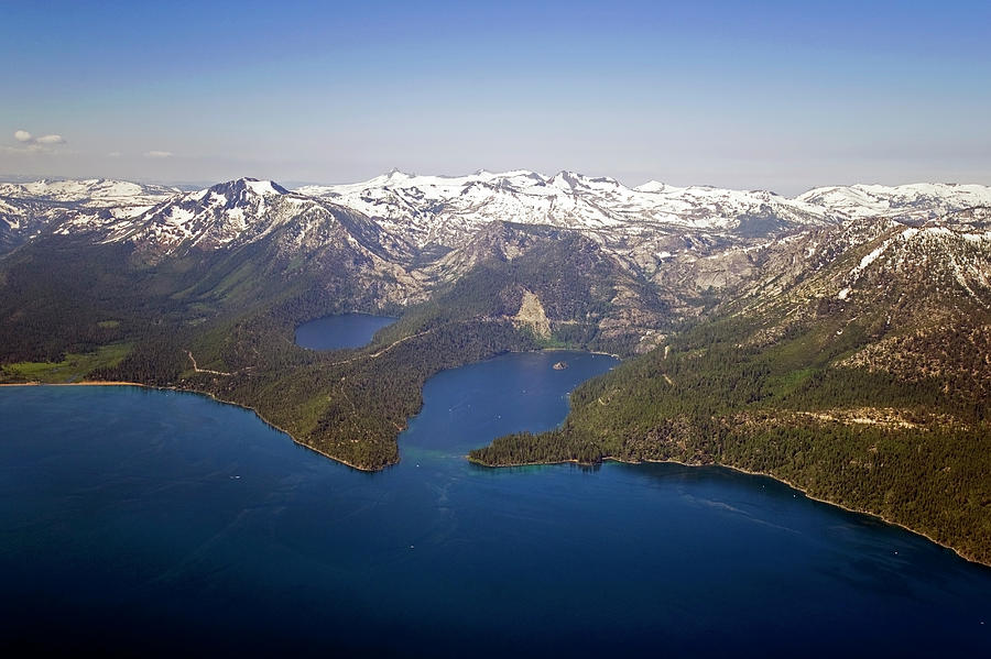 An Aerial Photograph Of Lake Tahoe And Photograph by Rachid Dahnoun