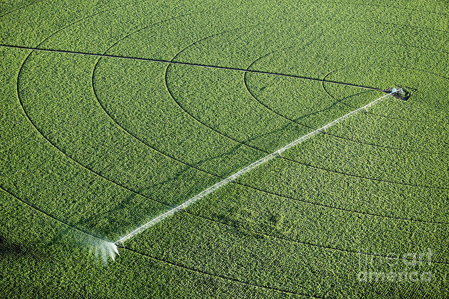 Drop Photograph - An Aerial View Of An Agricultural by B Brown