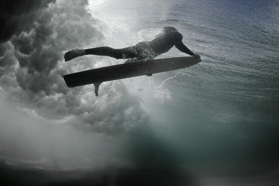 An Alaia Surfer Rises To The Surface Photograph by Mark Tipple