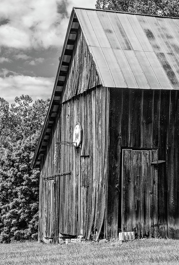 An American Barn Bw Photograph