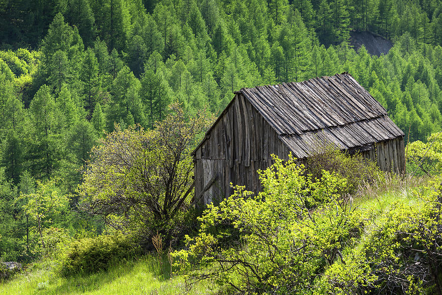 An ancient barn - French Alps - 3 by Paul MAURICE