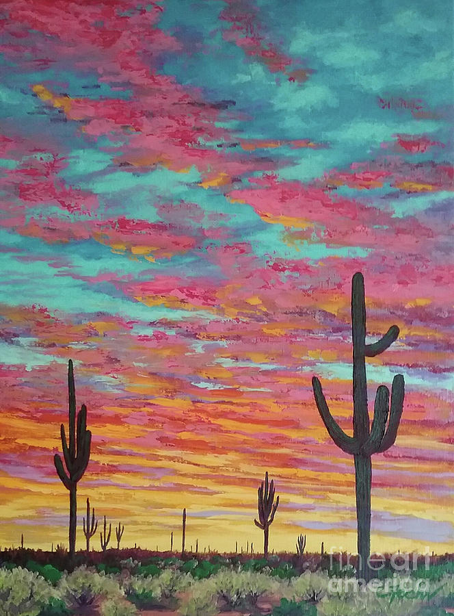 An Arizona Sunset  by Cheryl Fecht