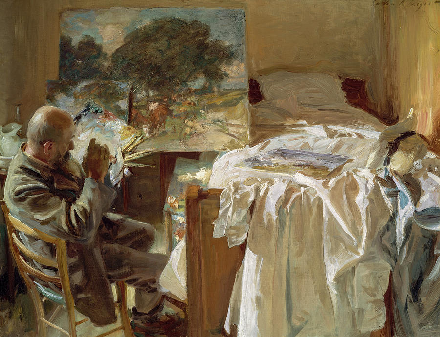 John Singer Sargent Painting - An Artist In His Studio, 1904 by John Singer Sargent