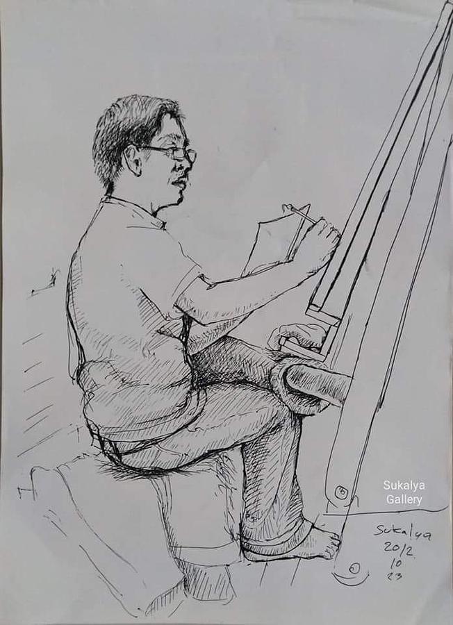An Artist With the Chinese Brush by Sukalya Chearanantana