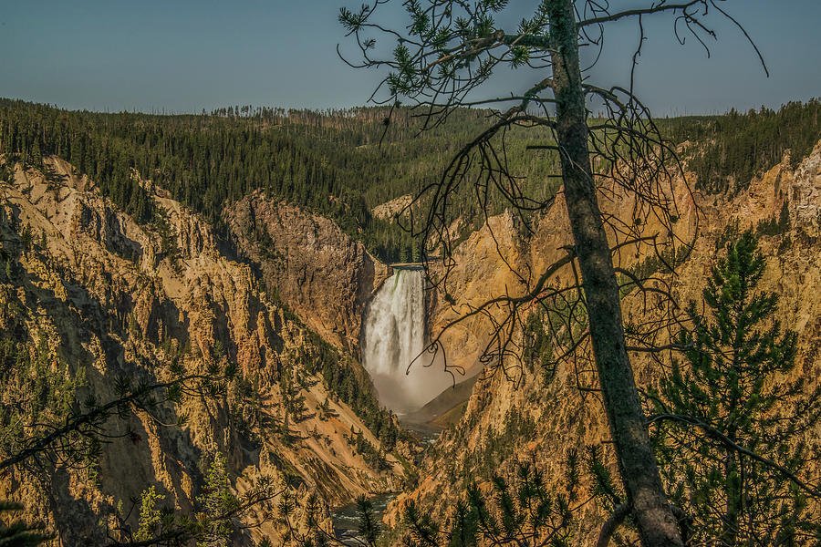 An Artistic Point Of Yellowstone Falls by Yeates Photography