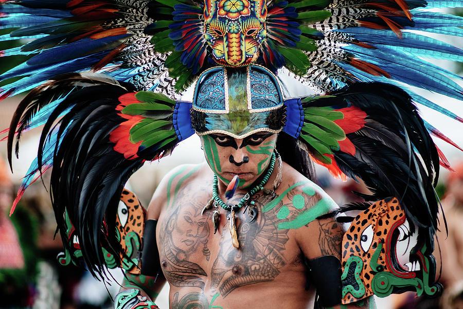 An Aztec dancer in San Cristobal, Chiapas, Mexico by Kamran Ali