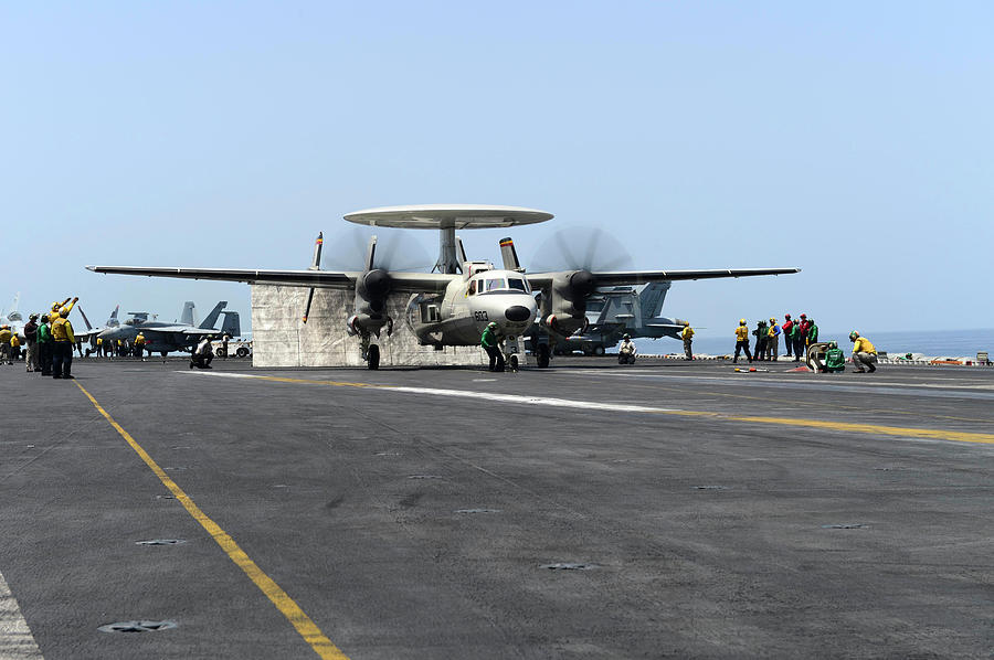 An E-2d Hawkeye Launches by Stocktrek Images