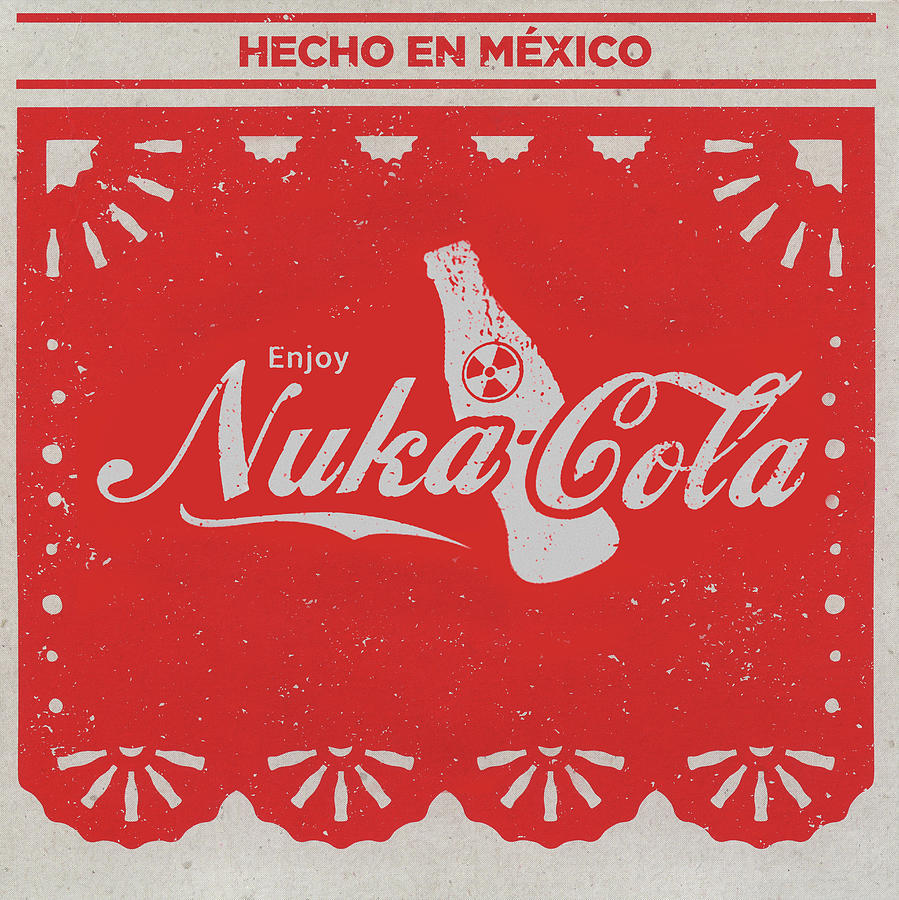 Coca Mixed Media - An Ice Cold Nuka Cola - Fallout Universe by Joseph Oland