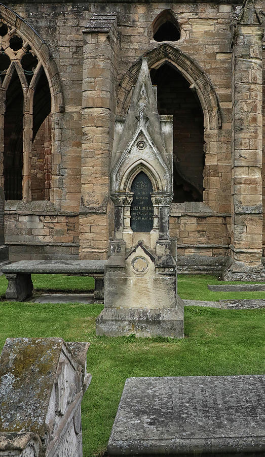 An Interesting Tombstone at Elgin Cathedral by Dave Mills