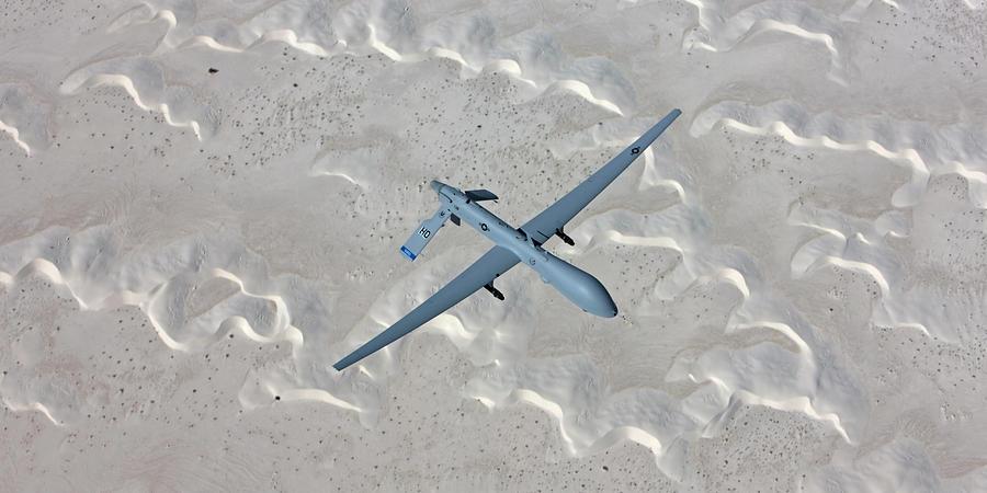 An Mq-1 Predator Flies A Training Photograph by High-g Productions/stocktrek Images