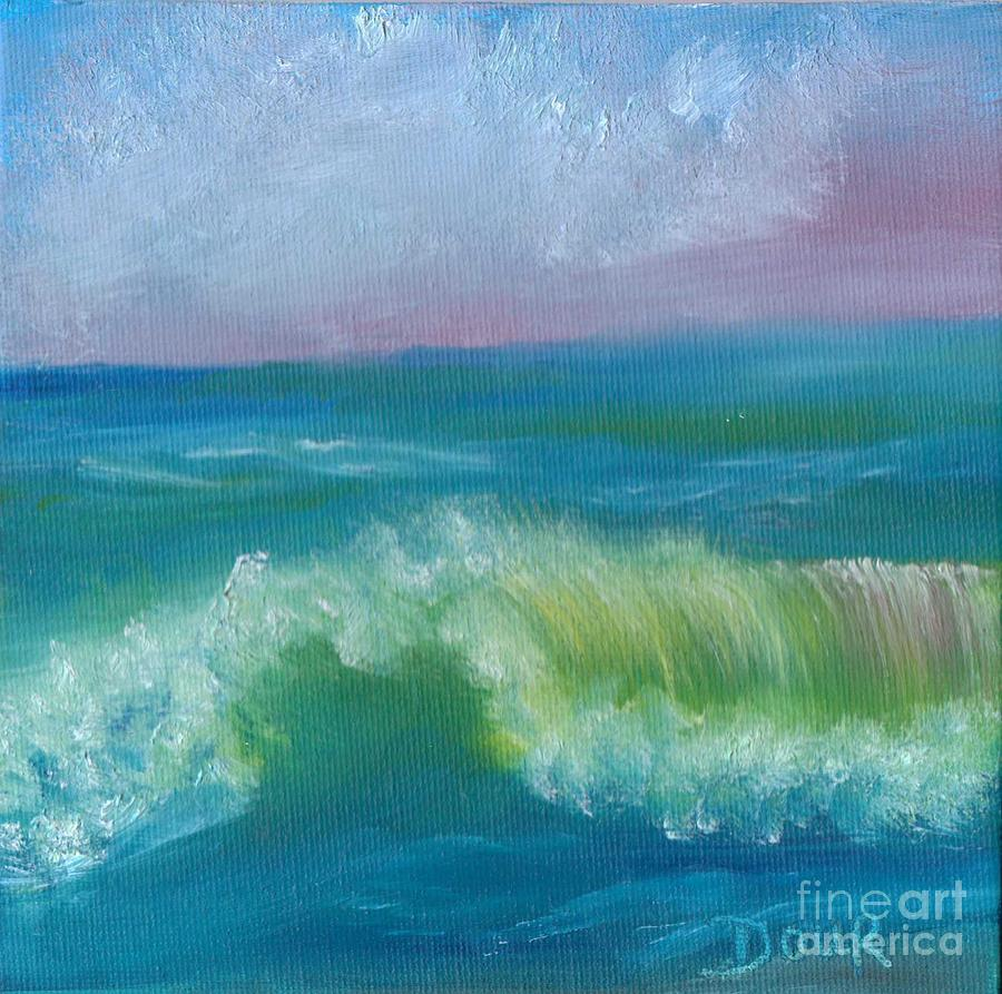Seascape Painting - An Ocean Wave by Joanne Dour