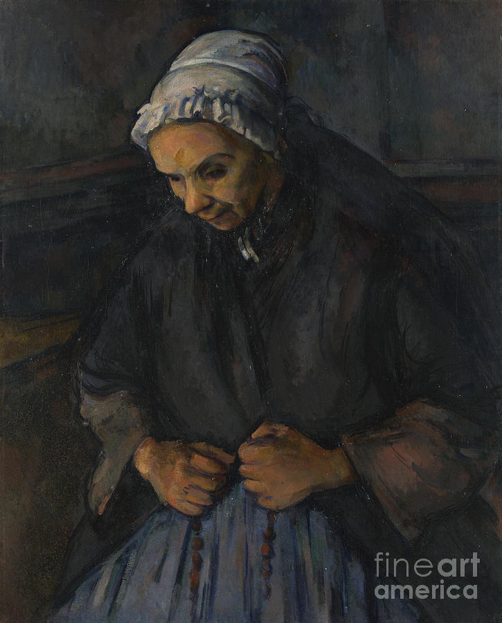 An Old Woman With A Rosary, C. 1895 Drawing by Heritage Images