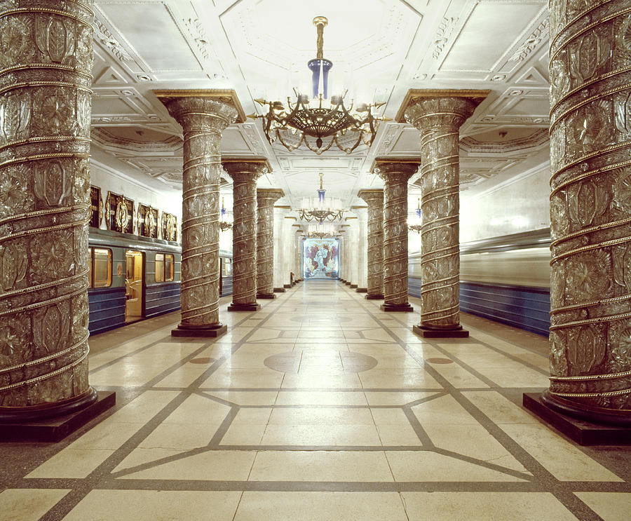 An Ornate Moscow Metro Or Underground Photograph by Harald Sund