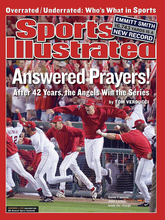 Anaheim Angels John Lackey, 2002 World Series Sports Illustrated Cover Photograph by Sports Illustrated