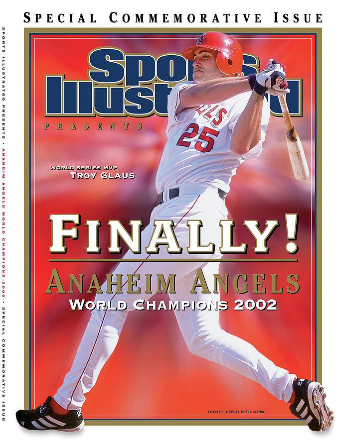 Anaheim Angels Troy Glaus, 2002 World Series Champions Sports Illustrated Cover Photograph by Sports Illustrated