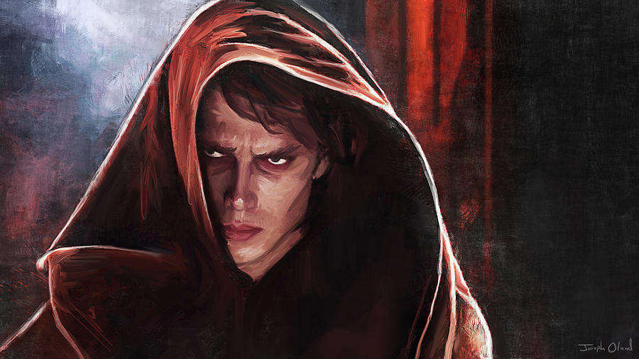 Star Wars Painting - Anakin Turns To The Dark Side - Star Wars by Joseph Oland