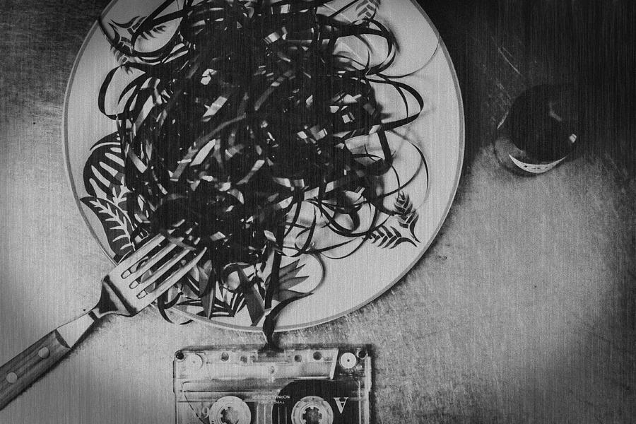 Pasta Photograph - Analog Dinner by Teruhiko Tsuchida