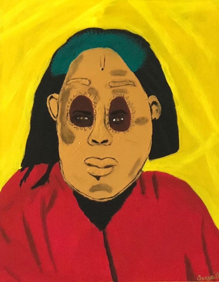 Ancestral Spirit  Painting by Sonye Locksmith