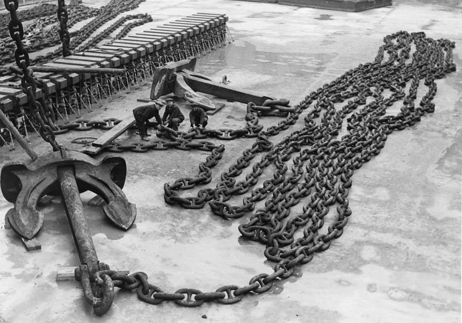 Anchor Chains Photograph by Fox Photos
