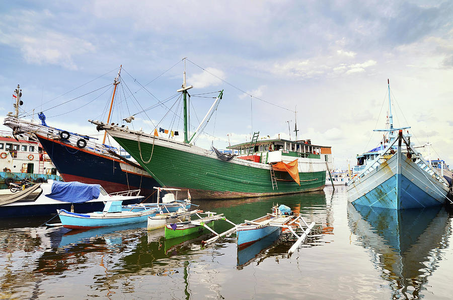 Anchored Boats Photograph by Ahmad Syukaery