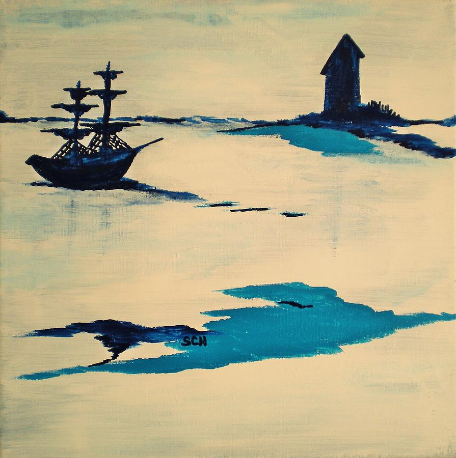 Abstract Painting - Anchored In Ice by Scott Haley