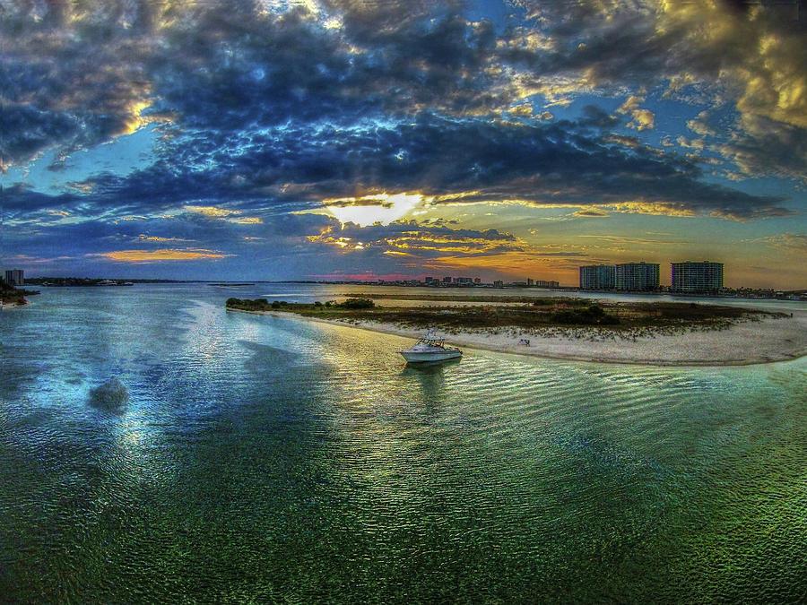 Anchored Off Bird Island by Michael Thomas