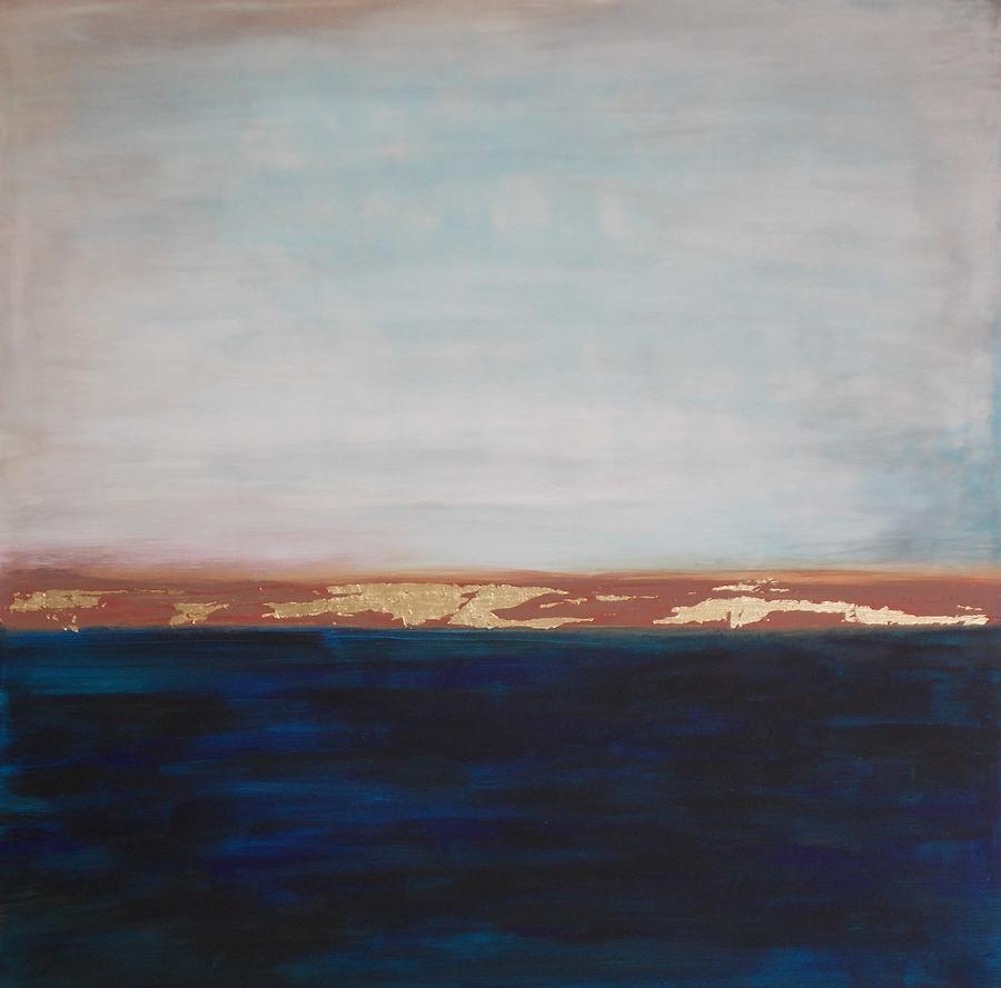 Seascape Painting - Anchors Up by Theresa Brummett