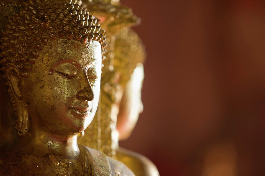 Ancient Buddha Images In A Thai Photograph by Enviromantic