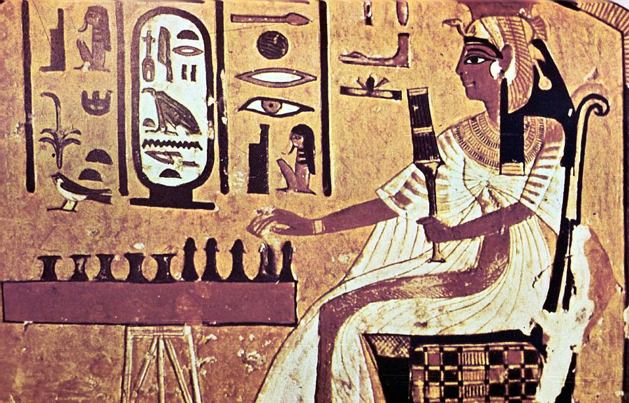 Ancient Egyptian Queen Nefetari Playing Photograph by Photos.com