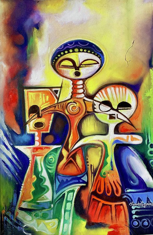 Ancient Figures by Olumide Egunlae
