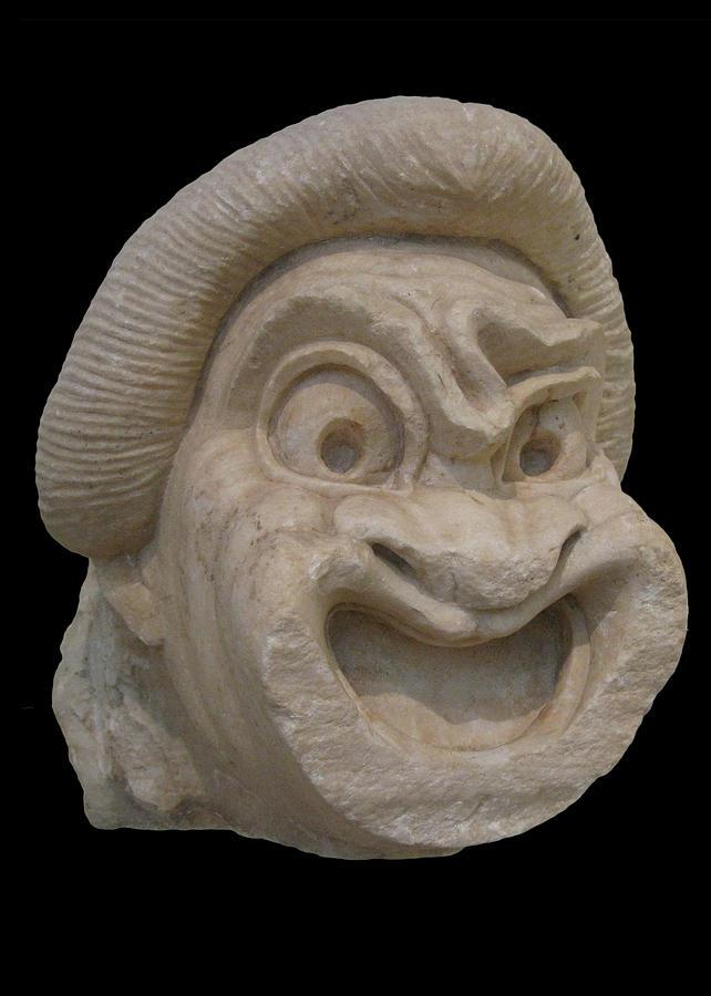 Ancient Greek Theater Mask by Doug Matthews