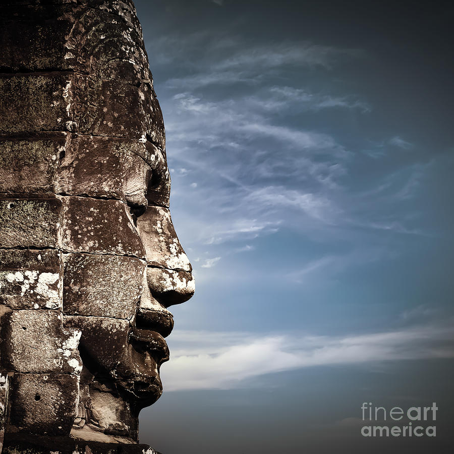 Civilization Photograph - Ancient Khmer Architecture. Huge Carved by Perfect Lazybones