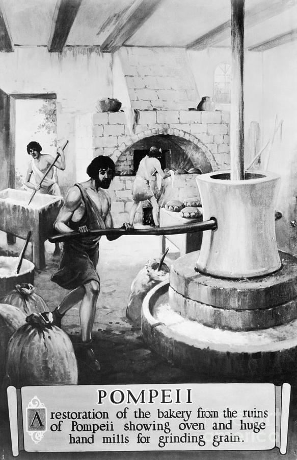 Ancient Roman Bakery Photograph by Bettmann