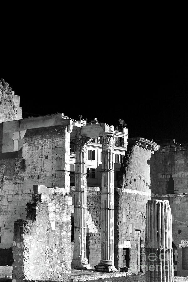 Ancient Rome - Black And White Photograph