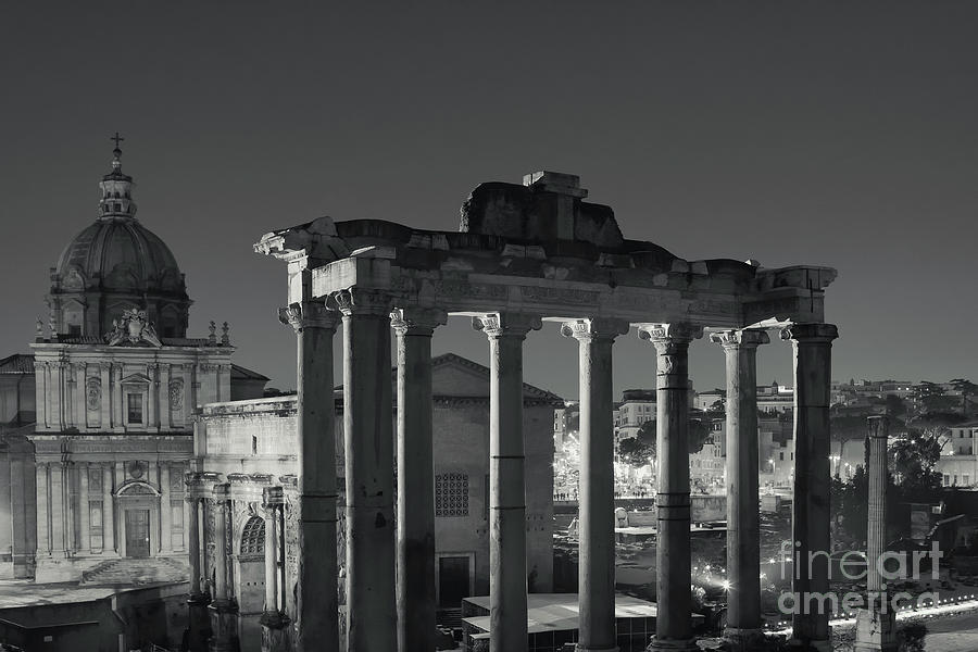 Panorama Photograph - Ancient Rome by Night by Stefano Senise