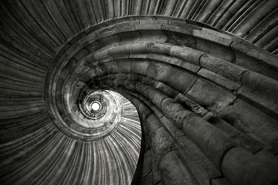 Ancient Spiral Staircase Photograph by Philartphace