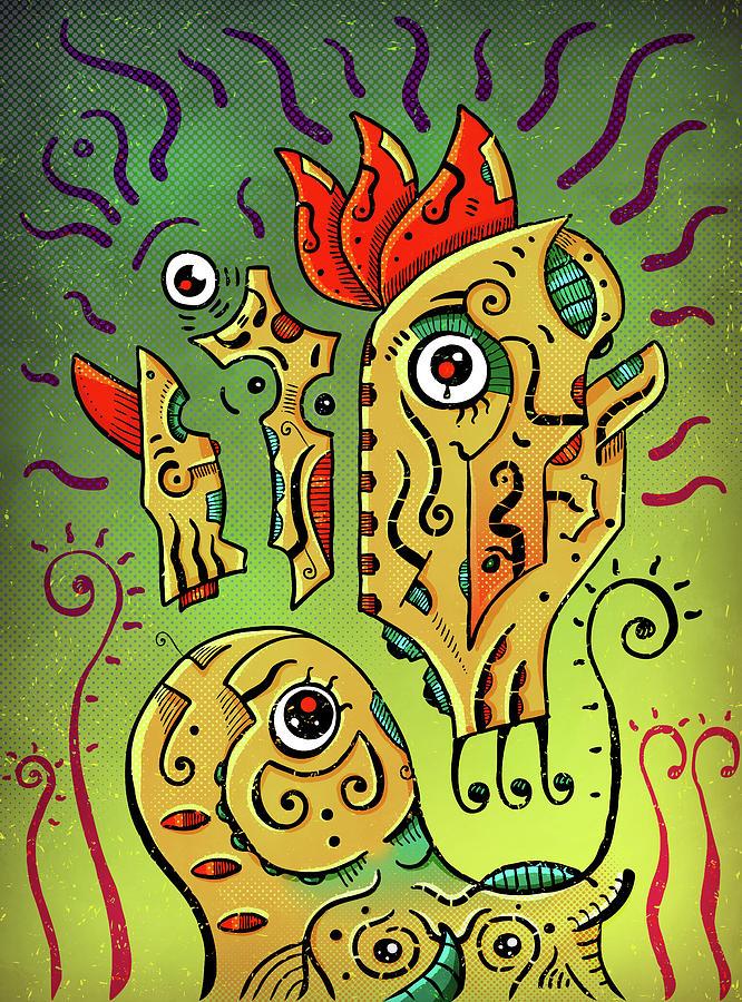 Totoro Digital Art - Ancient Spirit by Sotuland Art