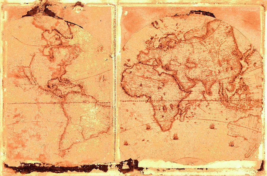 Ancient World Map Photograph by Rob Atkins
